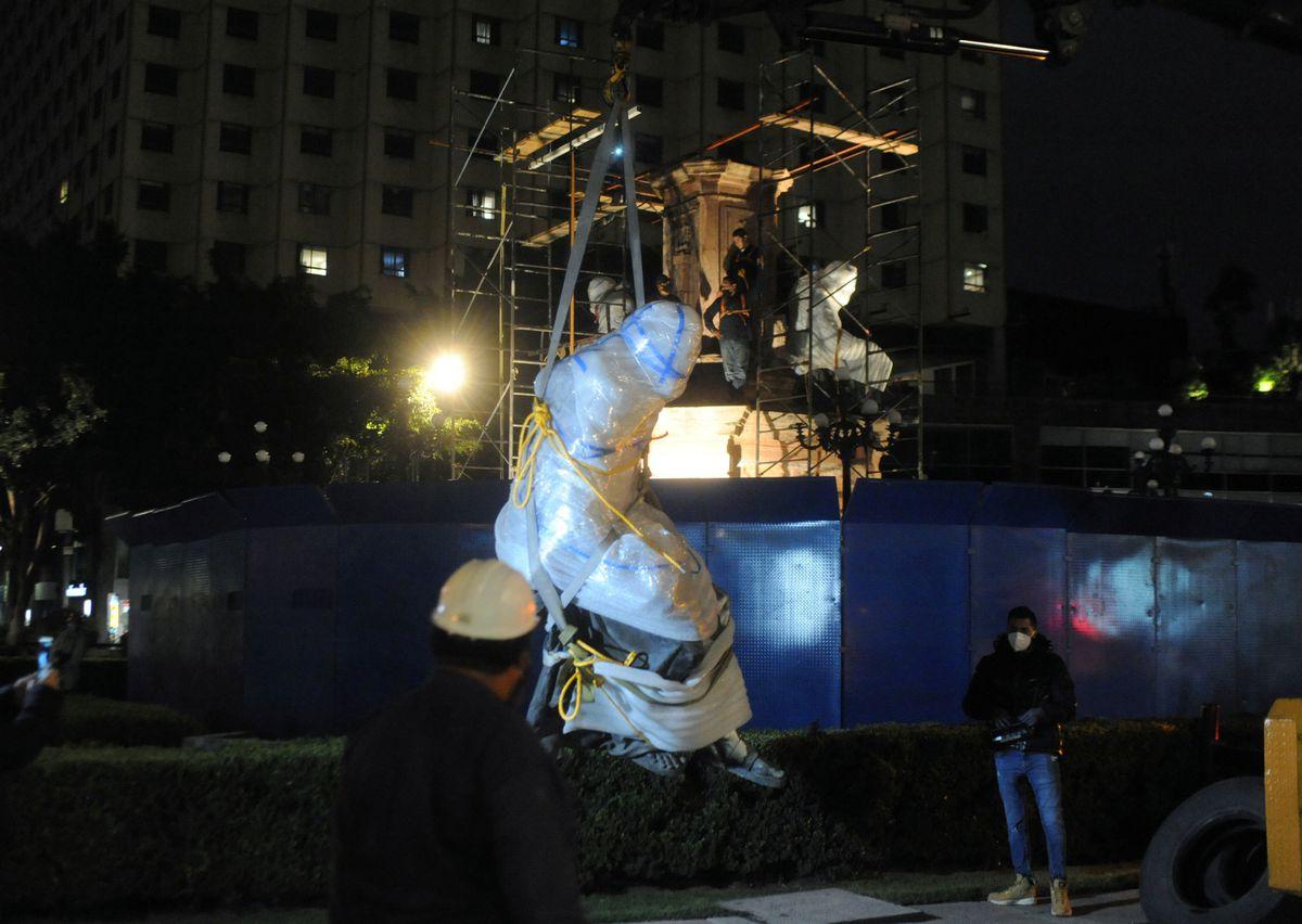 CDMX: El regreso de Colón a la rotonda en la Ciudad de México es incierto: ahora el pedestal se ha deteriorado