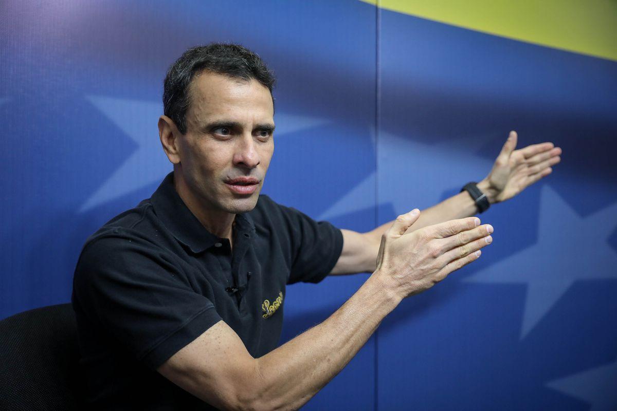 """Henrique Capriles: """"Lo que importa no es a qué oposición sirven en Bruselas o Washington, sino a dónde vamos""""    Internacional"""