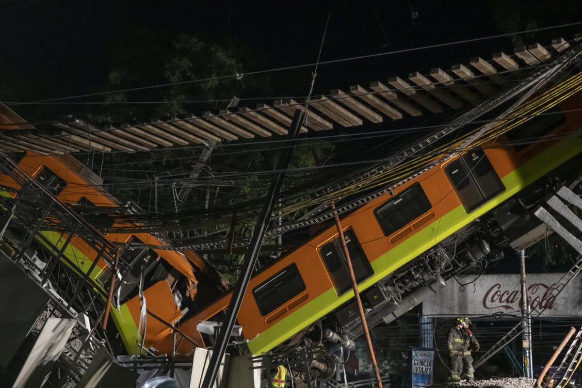 """Línea 12: Scheinbaum anuncia el dictamen de un experto externo sobre la caída del metro y Ebrard se pone """"a disposición de las autoridades"""""""