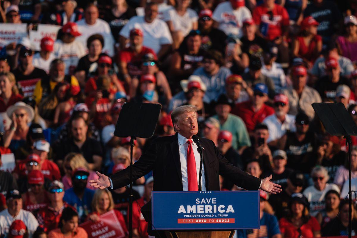 El expresidente Trump realiza su primer mitin desde el ataque al Capitolio en enero  Internacional