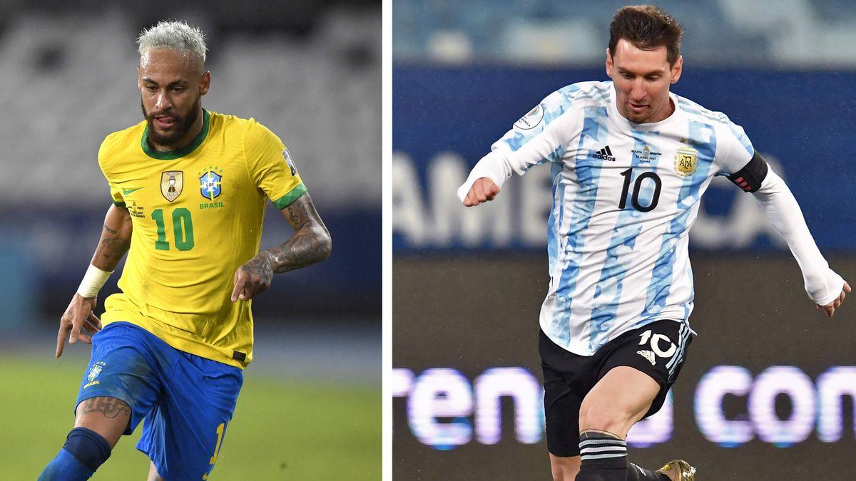 Brasil vs.Argentina, final de la Copa América 2021  Copa de fútbol americano 2021