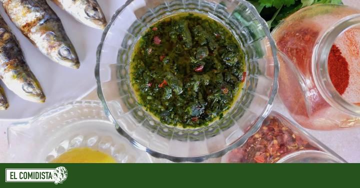 Chermoula (salsa magrebí de cilantro, ajo y especias)