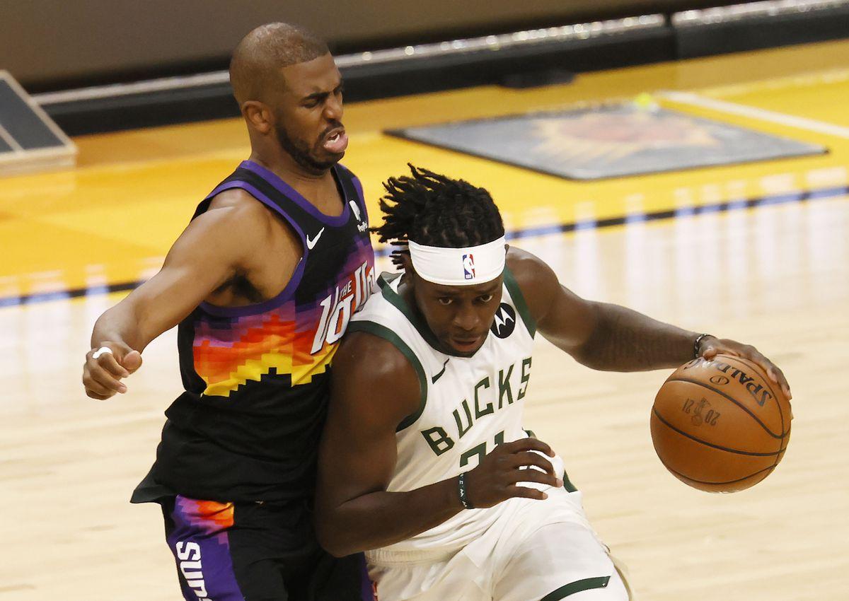 El trío de estrellas de Milwaukee impone su golpe en Phoenix y acaricia el título en deportes NBA