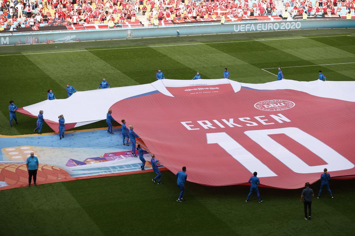 """Eriksen """"juega"""" con Dinamarca  Fútbol Eurocup 2021"""