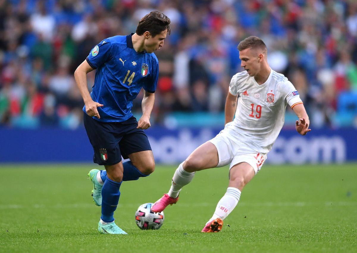 Italia - España en directo, Eurocopa en directo: Chiesa abre el marcador y adelanta a los italianos  Fútbol Eurocup 2021