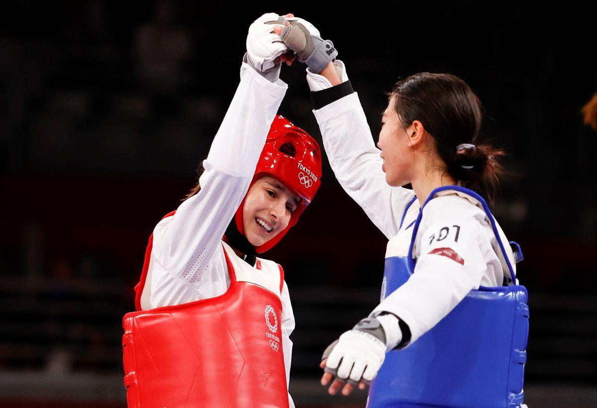 """Juegos Olímpicos de Tokio 2021: Adriana Cerezo, la """"chica maravilla"""" de Taekwondo es plata olímpica en Tokio    Juegos Olímpicos 2021"""
