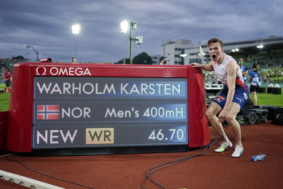 Karsten Warholm borra los registros más antiguos de hombres  deporte