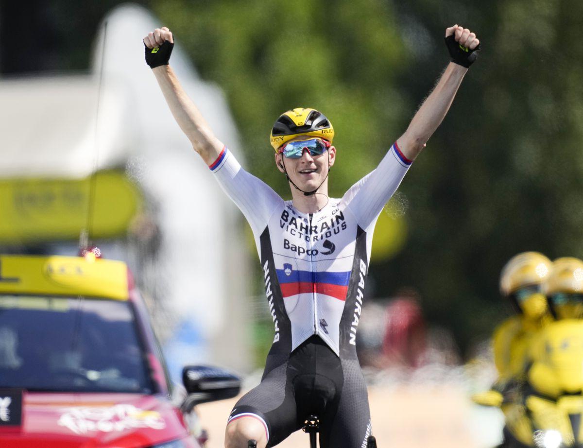 Matej Mohoric gana la etapa 19 del tour  deporte