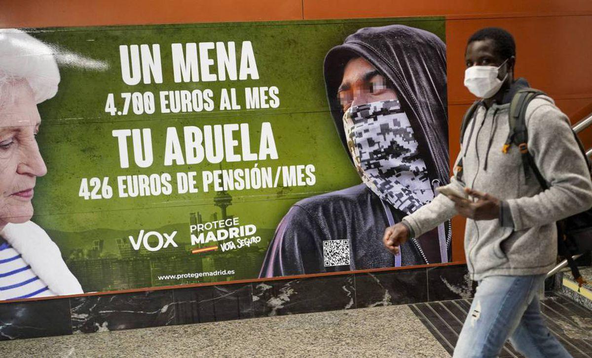 Tribunal de Madrid no ve ningún crimen de odio en el cartel Vox contra inmigrantes menores de edad    Madrid