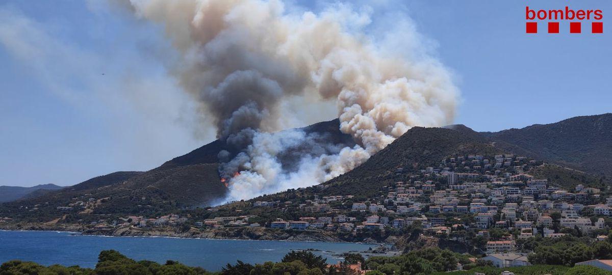 Un incendio alimentado por el viento del norte obliga a la evacuación de tres urbanizaciones en Llançà, Girona    Cataluña
