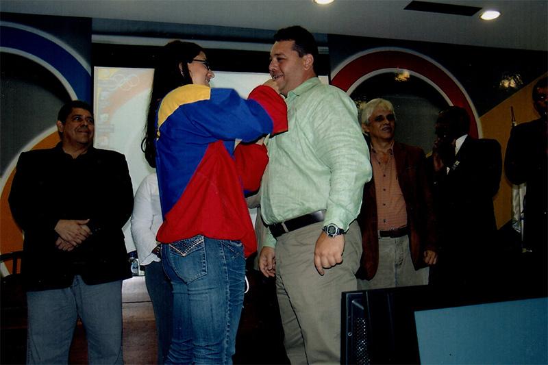 Naomi Soazo y Salvador Ferrara