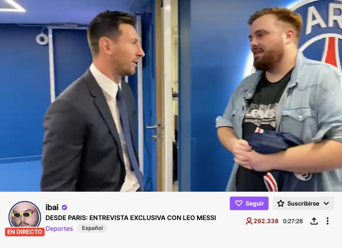 Ibai Llanos logra reunir más de 300.000 espectadores en vivo con su entrevista a Leo Messi en Twitch    televisor