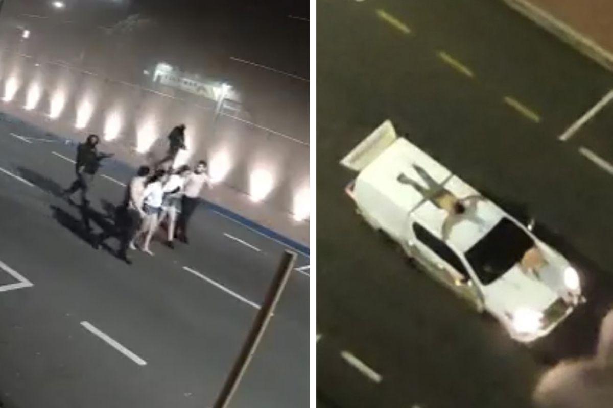 Tres muertos en un violento robo en Brasil, como rehenes atados a automóviles como escudos humanos |  Internacional