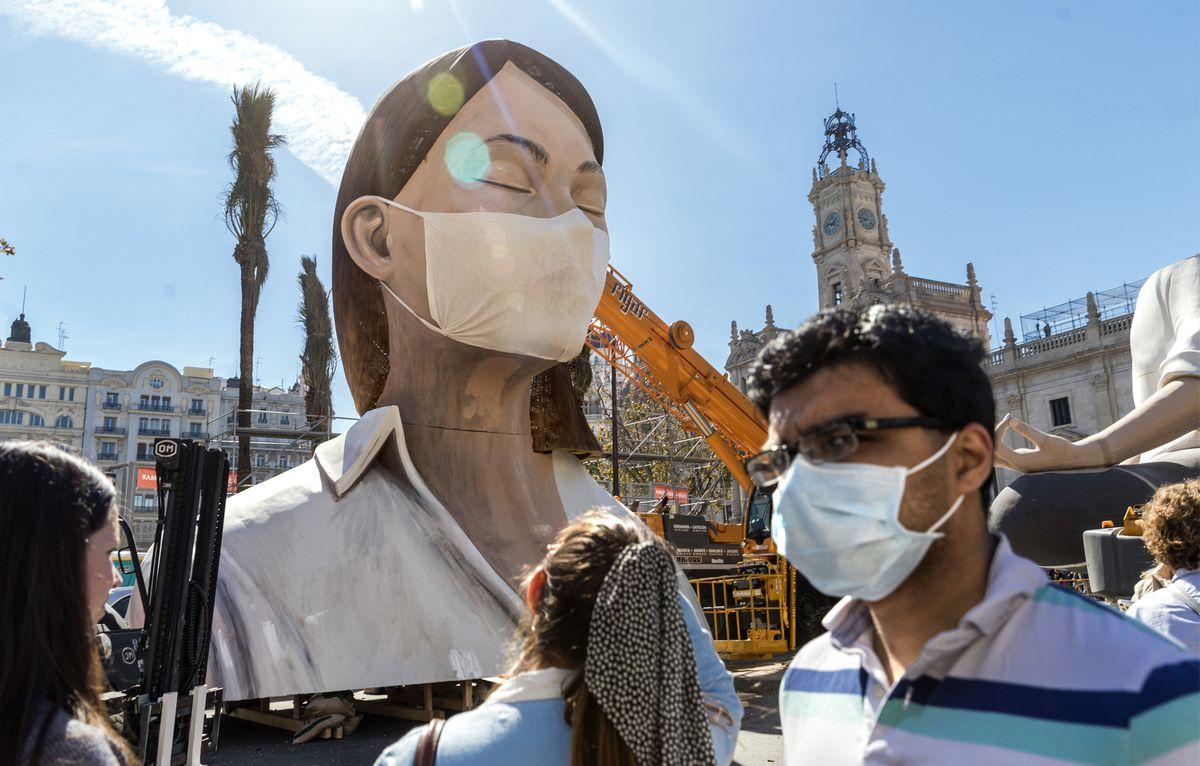 """Valencia: La máscara será obligatoria en Fallas y se mejorará la """"Cremà"""" por toque de queda    Valencia"""