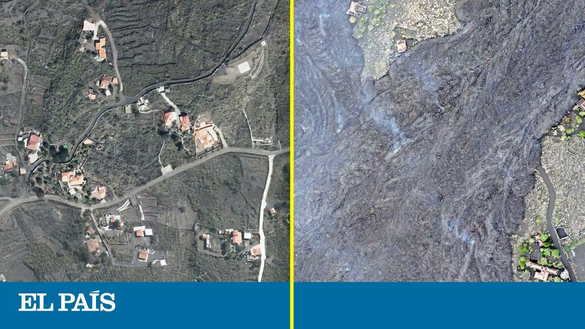 Antes y después de la catastrófica erupción del volcán La Palma  Ciencias