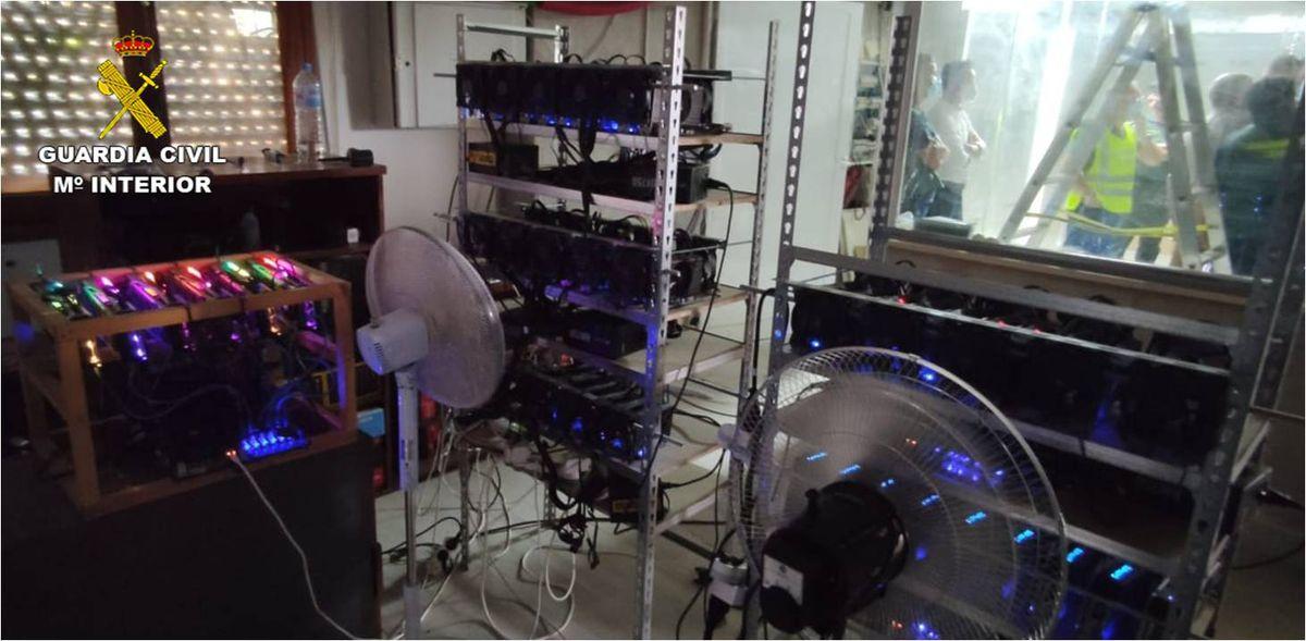 Crevillent: Se ha desmantelado en Alicante una granja de criptomonedas que utiliza una conexión eléctrica ilegal    Tecnología