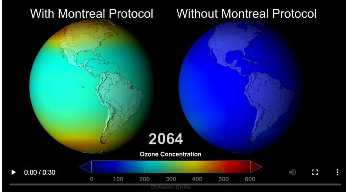 El agotamiento de la capa de ozono también reduce el calentamiento global  Ciencias