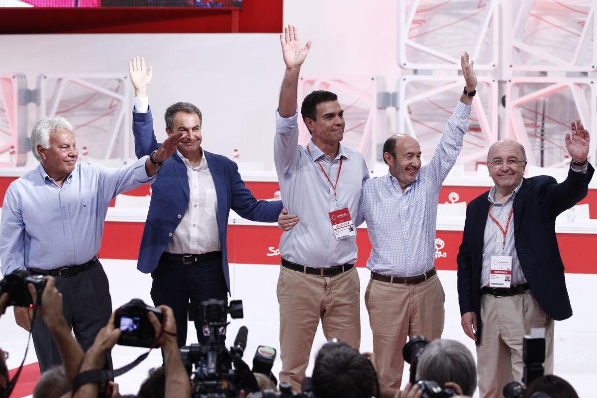 González, Zapatero y Almunia cerrarán filas con Sánchez en el Congreso del PSOE |  España