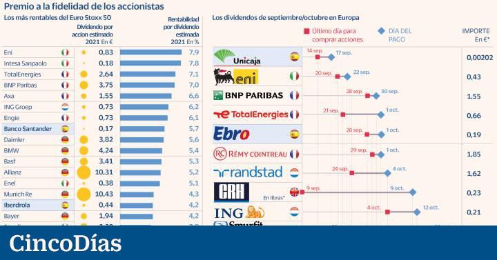 Lluvia de dividendos en Europa: cerca de 6.000 millones el próximo mes  Mercados