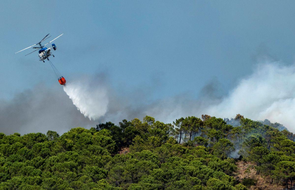 Muere un bombero combatiendo un incendio en Sierra Bermeja  España