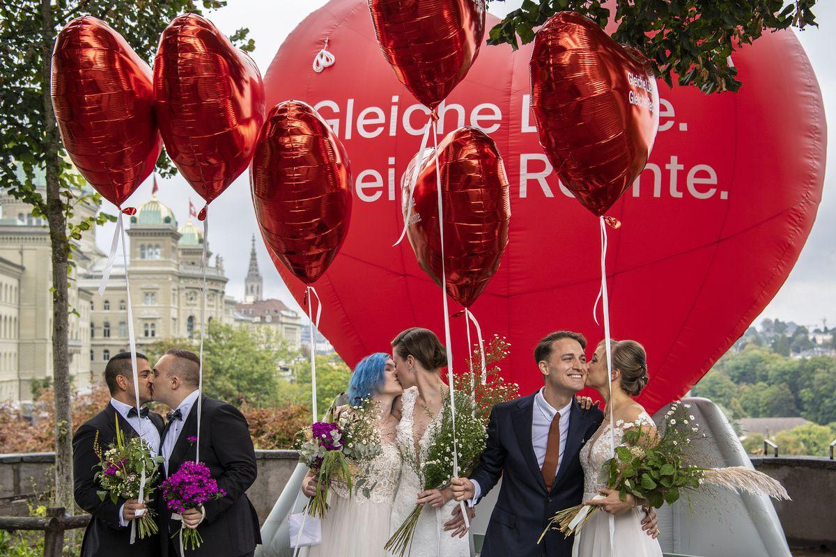 Suiza aprueba el matrimonio entre personas del mismo sexo mediante referéndum  Comunidad