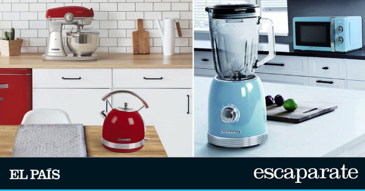 Teteras, tostadoras o batidoras vintage: cambia el diseño de la cocina y vuélvete retro con los electrodomésticos Schneider |  Escaparate