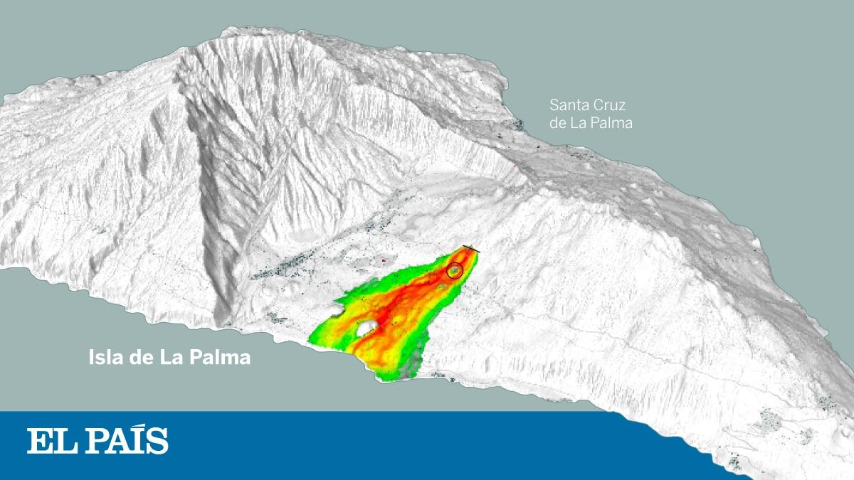 Volcán de la Palma: donde se espera que las lenguas de lava avancen hacia el mar  Ciencias
