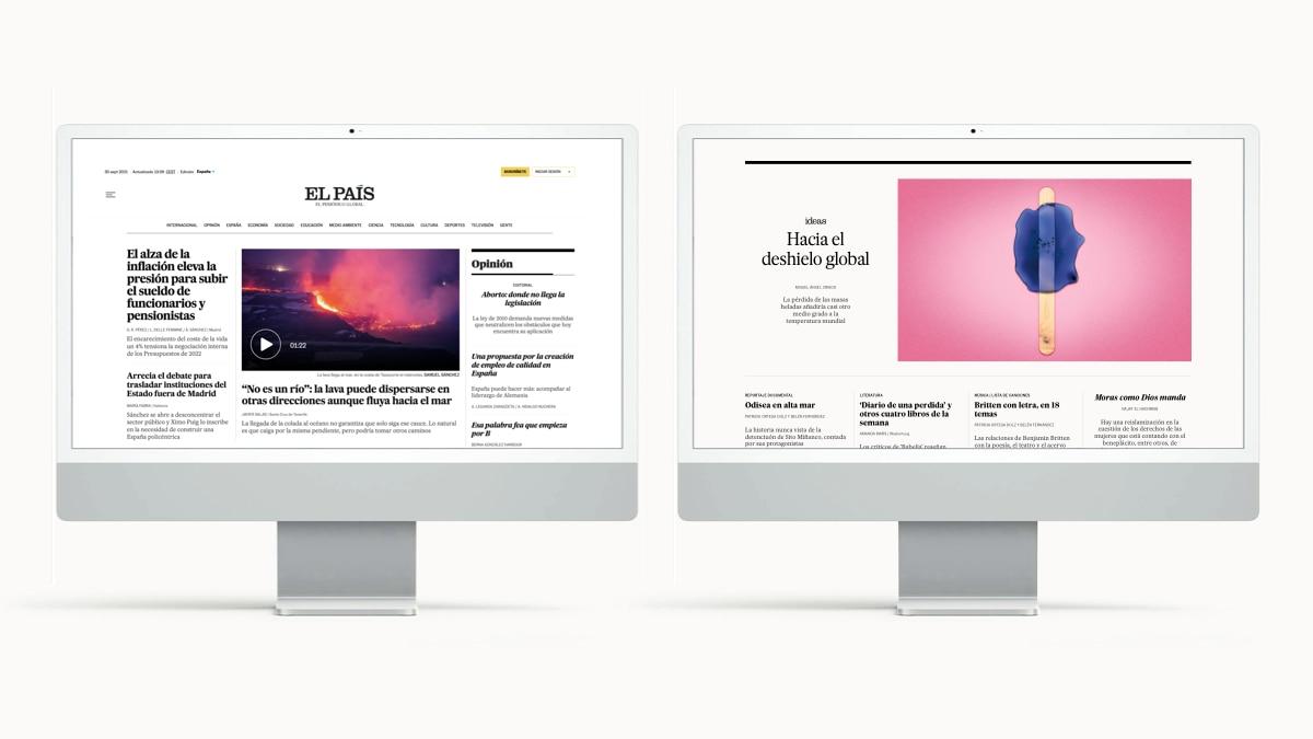 EL PAÍS lanza nuevo diseño en Internet  EL PAÍS que hacemos
