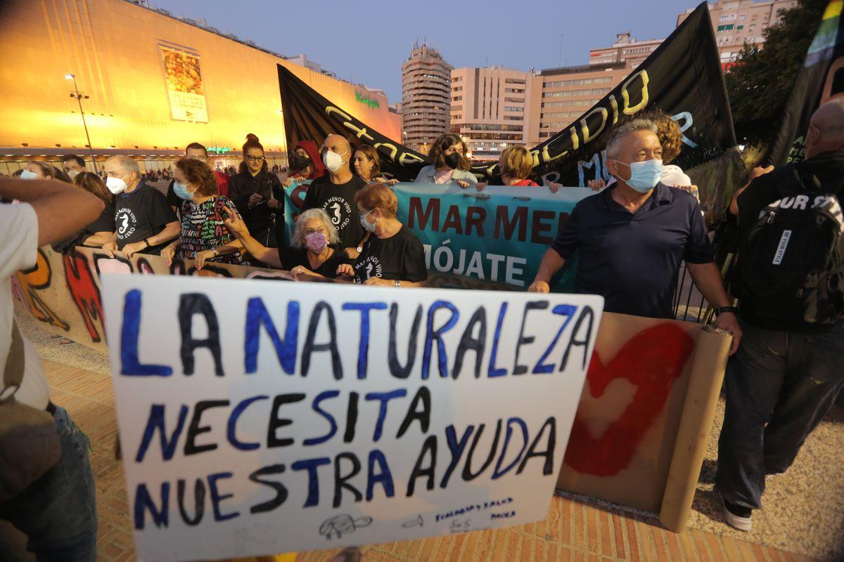 Miles se manifiestan en Murcia para exigir soluciones para salvar el Mar Menor  Clima y medio ambiente